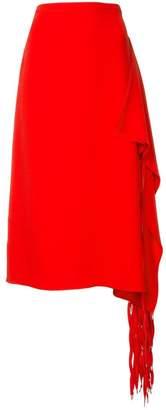 Tibi draped fringe skirt