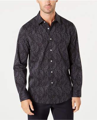 Tasso Elba Men's Stripe Paisley Shirt