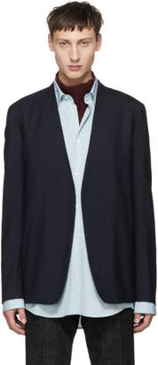 Maison Margiela Navy Wool Minimal Blazer