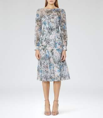 Reiss Nyla Printed Midi Dress