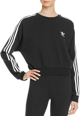 adidas Originals Three Stripe Crop Sweatshirt $60 thestylecure.com
