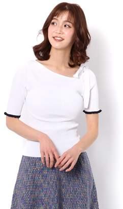And Couture (アンド クチュール) - アンドクチュール 袖配色フリルイレギュラーネックプルオーバー