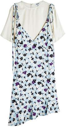 Kenzo Asymmetric Print Dress