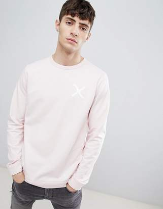 Clean Cut Copenhagen Crew Neck Cross Print Sweat