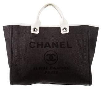 Chanel Raffia Large Deauville Tote