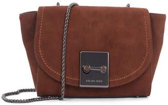 Celine Dion Collection Suede Baroque Clutch Handbag