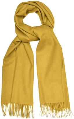 Reiss SASKIA LAMBSWOOL CASHMERE BLEND SCARF Yellow