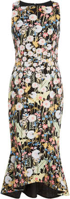 Peter Pilotto Kia Flared Floral-Print Cady Dress