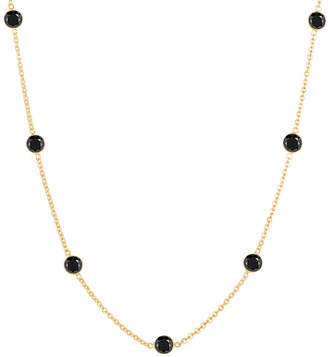 Black Diamond She Adorns & 18k Gold Station Necklace