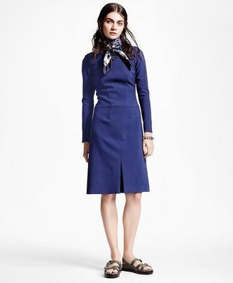 Long-Sleeve Wool-Blend Dress $498 thestylecure.com