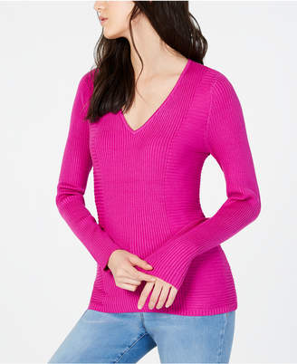 INC International Concepts I.n.c. Ribbed V-Neck Sweater