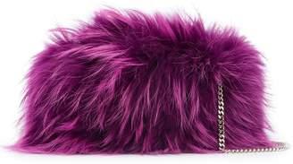 DSQUARED2 raccoon fur clutch bag