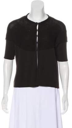 Akris Punto Wool Short Sleeve Cardigan w/ Tags