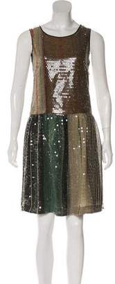Etro Sequin A-Line Dress
