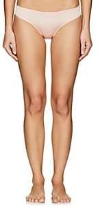 Hanro Women's Fleur Satin & Lace Bikini Briefs - Rose