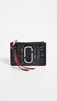Marc Jacobs Snapshot Confetti Top Zip Multi Wallet