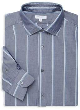Boglioli Slim-Fit Wide Stripe Dress Shirt