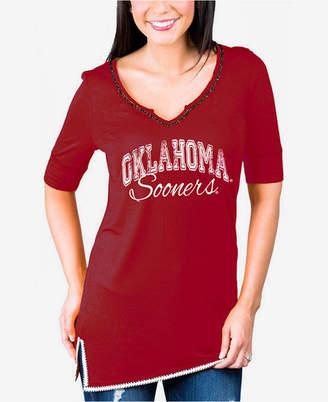 Gameday Couture Women's Oklahoma Sooners Beaded Neckline T-Shirt