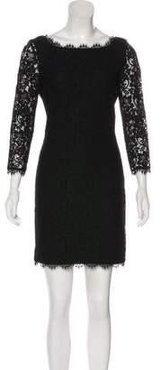 Diane von Furstenberg Scoop Neck Lace Dress