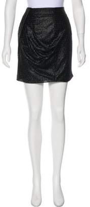 Tibi Jacquard Draped Skirt