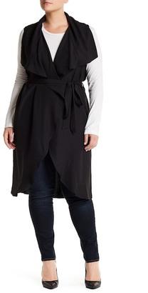 Blu Pepper Cascade Tie Waist Vest (Plus Size) $52 thestylecure.com