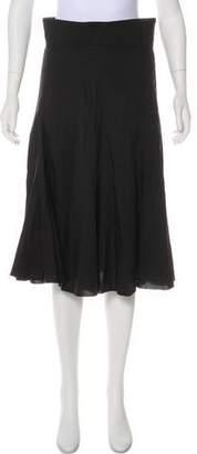 Prada Flared Knee-Length Skirt
