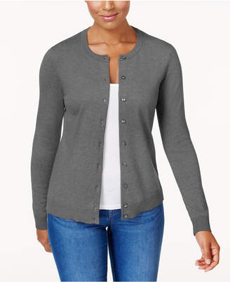 Karen Scott Crew-Neck Cardigan