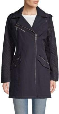 MICHAEL Michael Kors Asymmetrical Zip-Front Moto Jacket