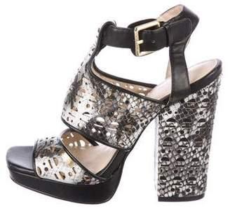Calvin Klein Vallin Leather Sandals
