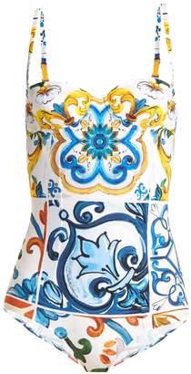 Dolce & Gabbana Majolica-print swimsuit