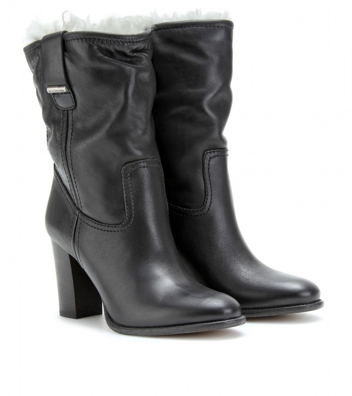 Burberry CADLEY ANKLE BOOTS WITH SHEARLING LINING
