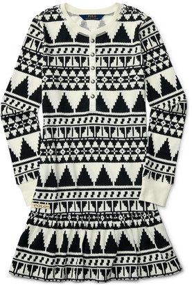 Ralph Lauren Southwestern-Print Ruffled Dress, Big Girls (7-16) $59.50 thestylecure.com