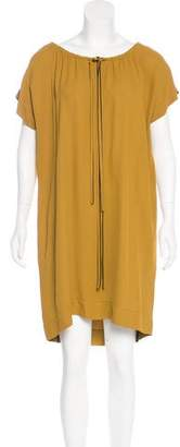 Fendi Scoop Neck Knee-Length Dress