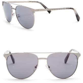 Ermenegildo Zegna 58mm Round Aviator Sunglasses
