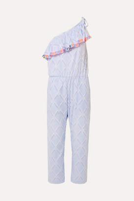 Lemlem Besu One-shoulder Fringed Cotton-blend Jacquard Jumpsuit