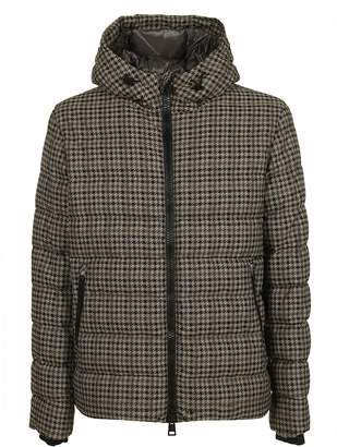 Herno Houndstooth Padded Jacket