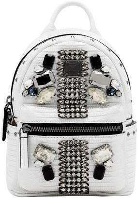 MCM White Leather Backpacks