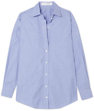 Victoria Beckham Oversized Cotton-chambray Shirt - Blue