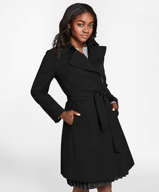 Brooks Brothers Wool-Blend Crepe Trench Coat