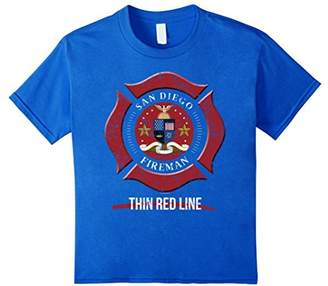 San Diego Firefighter Shirt Firefighter Gifts California Shi