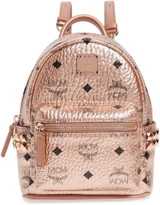 MCM X-Mini Stark Side Stud Coated Canvas Backpack