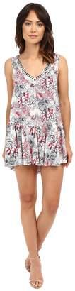 Brigitte Bailey Lisanna V-Neck Dress with Beading Women's Dress