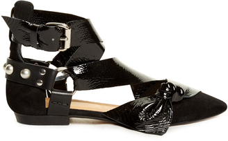 ISABEL MARANT Lindon point-toe leather and suede flats $710 thestylecure.com
