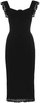 Roland Mouret Hotham sleeveless frill knitted dress