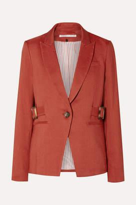 Veronica Beard Baltazar Dickey Linen-blend Blazer - Red
