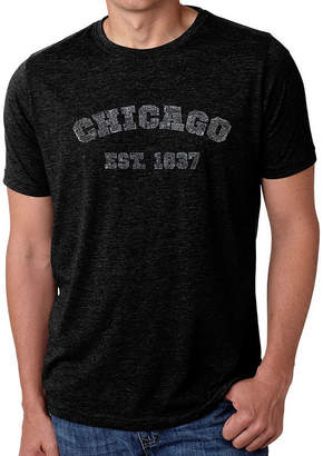 LOS ANGELES POP ART Los Angeles Pop Art Men's Big & Tall Premium Blend Word Art T-Shirt - Chicago 1837