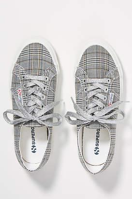 Superga Grey Plaid Sneakers