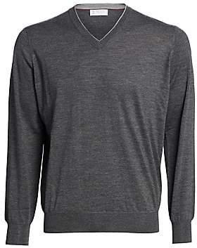 Brunello Cucinelli Men's Wool/Cashmere V-Neck Sweater