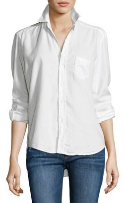 Frank & Eileen Eileen Solid Button-Front Shirt, Winter White $218 thestylecure.com