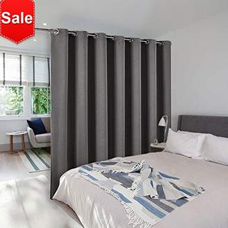 Room Divider Curtain Screen Partitions - NICETOWN Thermal Insulated Blackout Patio Door Curtain Panel